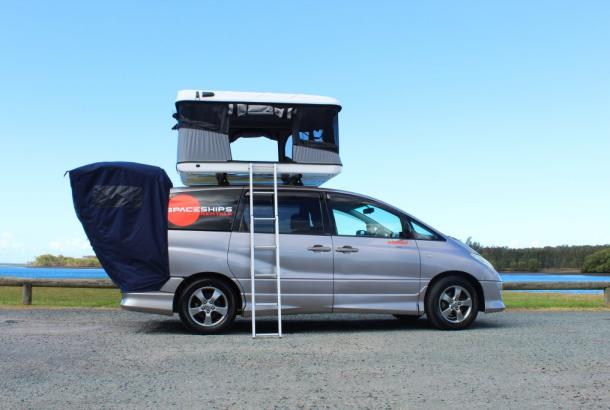Beta 4 berth rooftop tent set up 1