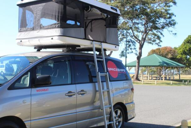 Beta 4 berth rooftop tent set up 3