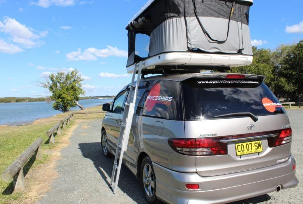 Beta 4 berth rooftop tent set up 4