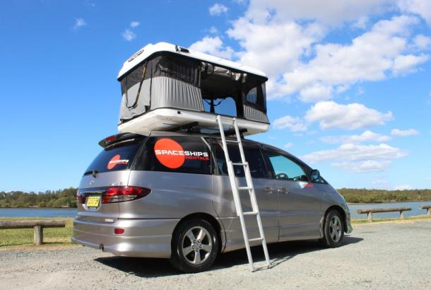 Beta 4 berth rooftop tent set up 6
