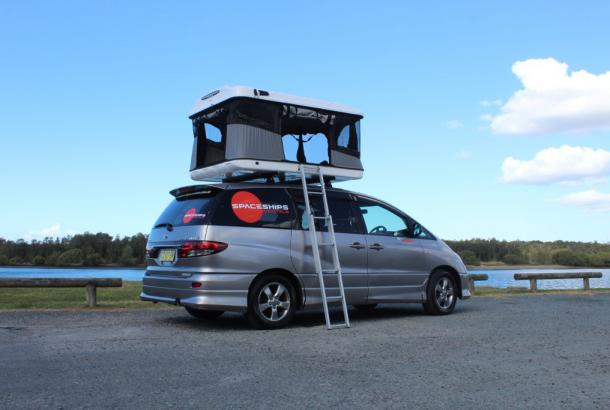Beta 4 berth rooftop tent set up 7