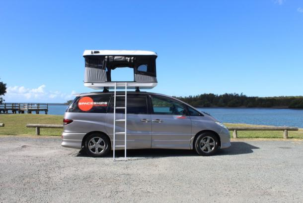 Beta 4 berth rooftop tent set up 8